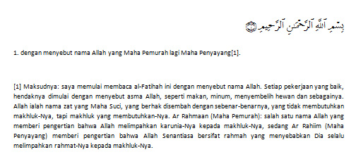 Hasil Qur'an in Word